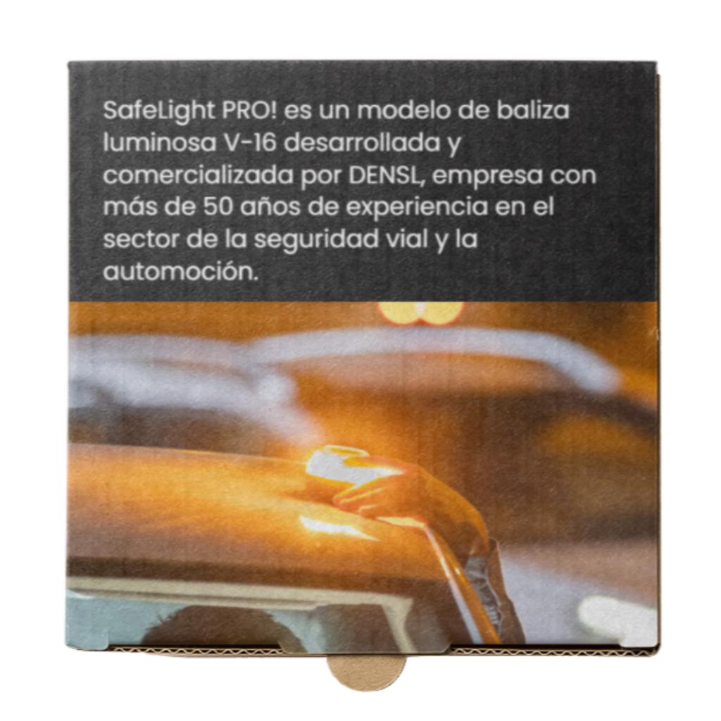 Caja de SafeLightPRO!, luz de emergencia para coches